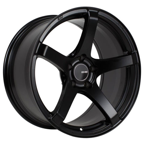 Enkei Kojin 18x8.5 45mm Offset 5x100 Bolt Pattern 72.6mm Bore Dia Matte Black Wheel