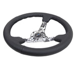 NRG Reinforced Steering Wheel (350mm / 3in. Deep) Blk Leather w/Hydrodipped Digi-Camo Spokes - Chris Taylor Racing Services
