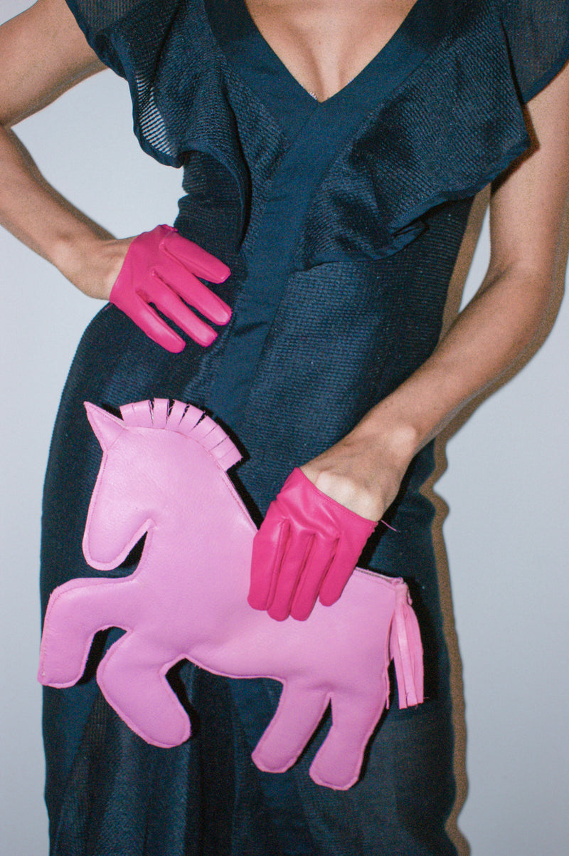 Handcrafted pony clutch