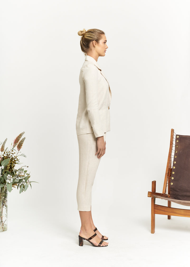 Marlo by Marlo Apostle Linen Suit Cropped Side