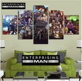 5 Panel Game of Thrones Cast Modern Décor Wall Art Canvas HD Print
