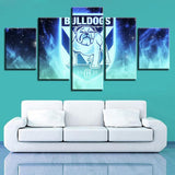 5 Panel Canterbury Bulldogs Team Modern Décor Canvas Wall Art HD Print.