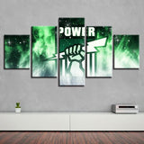 5 Panel Port Adelaide Power Modern Décor Canvas Wall Art HD Print.
