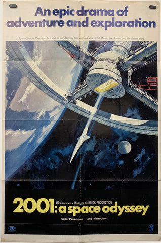 2001: A SPACE ODYSSEY (1968) ORIGINAL MOVIE POSTER
