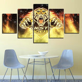 5 Panel West Tigers Décor Canvas Wall Art HD Print.