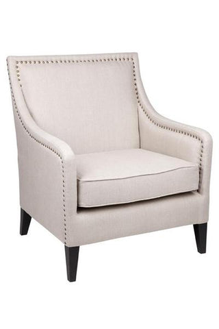 Nash Arm Chair in White Line