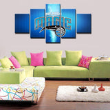 5 Panel Orlando Magic Modern Decor Canvas Wall Art HD Print