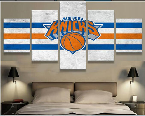 5 Panel New York Knicks Modern Decor Wall Art Canvas HD Print