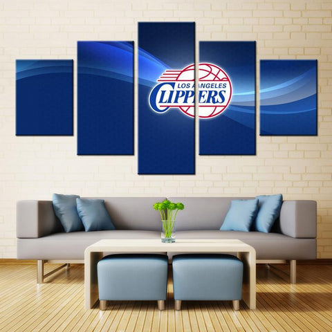 5 Panel Los Angeles Clippers Modern Decor Canvas Wall Art HD Print