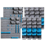 Giantz 88 Parts Wall-Mounted Storage Bin Rack Tool Garage Shelving Organiser Box
