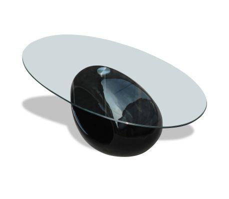 Beautiful Round Coffee Table - Black