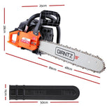 GIANTZ 52CC Petrol Commercial Chainsaw Chain Saw Bar E-Start Black