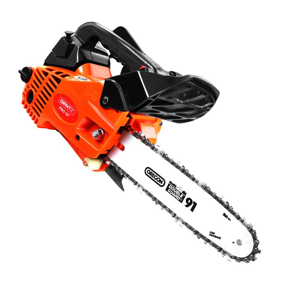 "GIANTZ 25cc Commercial Petrol Chainsaw 10"" Oregon Bar E-Start Chains Saw Tree"