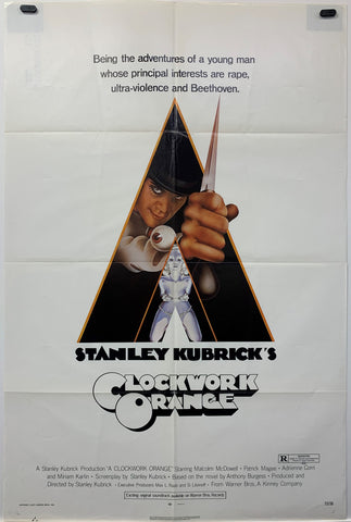 CLOCKWORK ORANGE (1972) ORIGINAL MOVIE POSTER