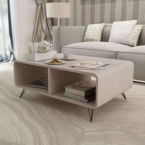 Coffee Table 90 x 55.5 x 38.5 Cm Wood - Grey