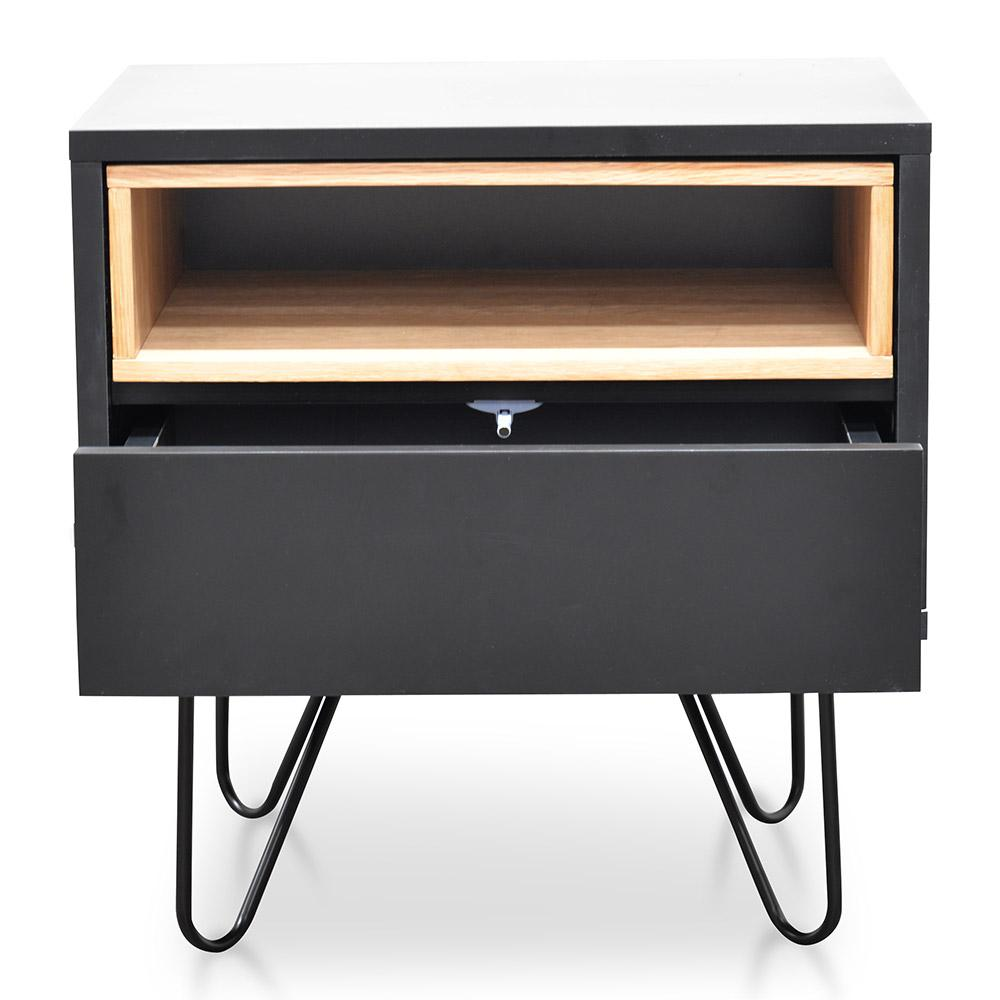 Bedside Table - Black