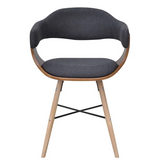 DINING CHAIR BENTWOOD WITH FABRIC UPHOLSTERY (2 PCS)