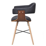 Artificial Leather Dining Chair With Bentwood Legs