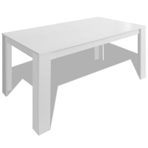 Dining Table 140 x 80 x 75 Cm - White
