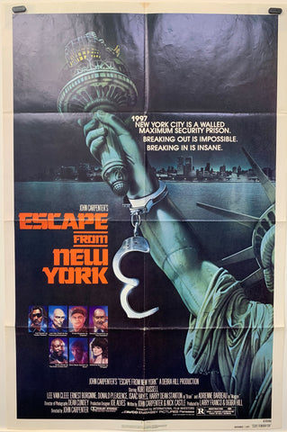 ESCAPE FROM NEW YORK (1981) ORIGINAL MOVIE POSTER