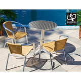 Gardeon Outdoor Bar Table Aluminium Dining Table Round 70CM
