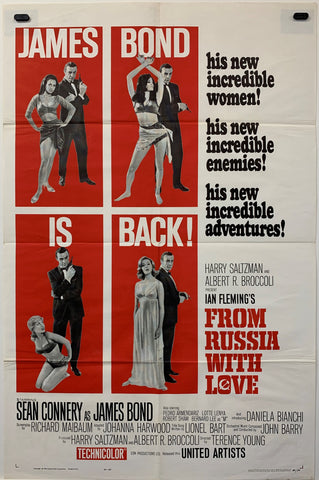 FROM RUSSIA WITH LOVE (1963) ORIGINAL MOVIE POSTER