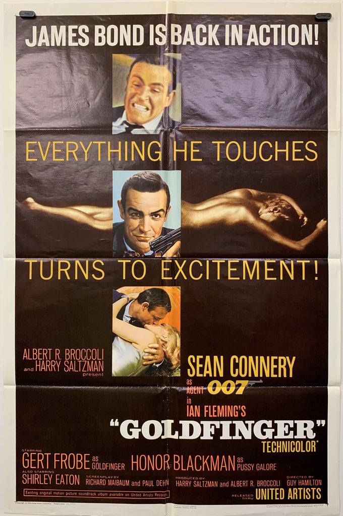 GOLDFINGER (1964) ORIGINAL MOVIE POSTER