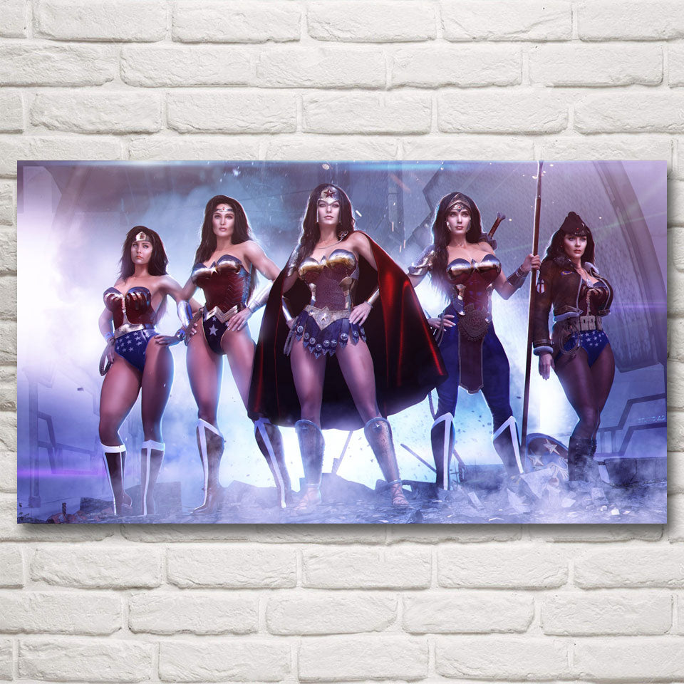 Framed Wonder Woman Modern Décor Canvas Wall Art HD Print