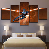 5 Panel Framed Star Wars Jango Fett Modern Decor Canvas Wall Art HD Print