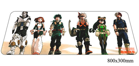 Boku No Hero Academia Six Characters Large Mouse Pad 800x300x2mm Best PC Gaming Pad HD Print