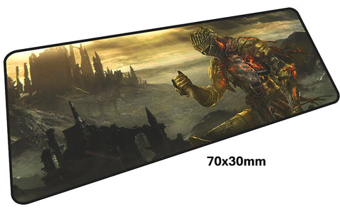 Dark Souls Knight & Castle Large Mouse Pad 700x300mm Best PC Gaming Pad HD Print