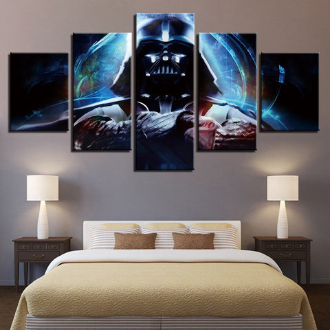 5 Panel Star Wars Lord Vader Modern Decor Canvas Wall Art HD Print