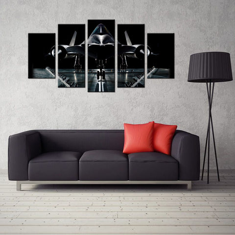5 Panel Lockheed SR-71 Blackbird Homer Decor Canvas Wall Art HD Print