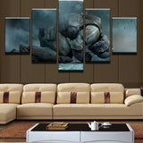 5 Panel Star Wars Stormtrooper in Mourning Modern Decor Canvas Wall Art HD Print