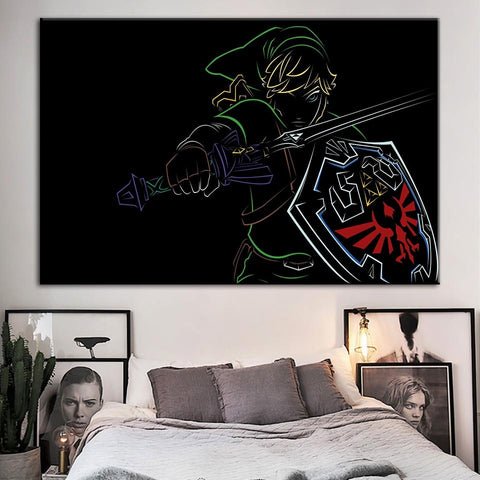 Legend Of Zelda Poster Modern Décor Canvas Wall Art HD Print