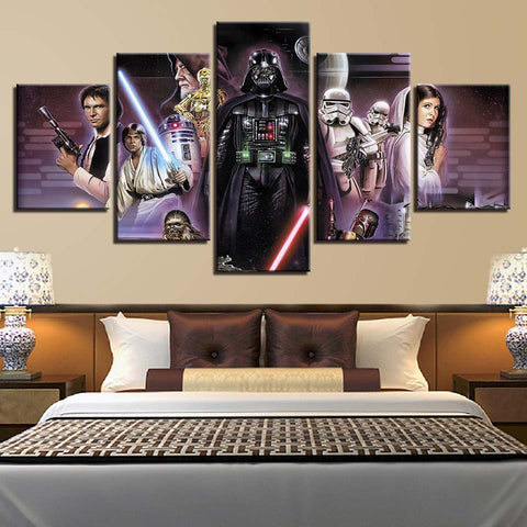 5 Panel Star Wars A New Hope Poster Modern Decor Canvas Wall Art HD Print