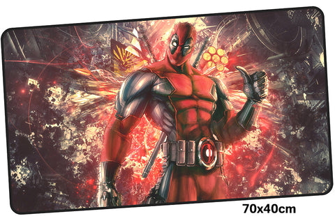 Deadpool Bad Ass Large Mouse Pad 700x400X3mm Best PC Gaming Pad HD Print