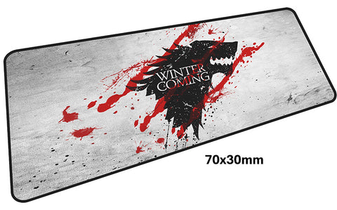 Game of Thrones Winter is Coming Large Mouse Pad 700x300mm Best PC Gaming Pad HD Print
