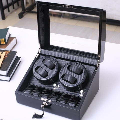 High Quality 4+6 And 2+0 Automatic watch winder carbon fiber slient motor box watches mechanism cases storage display watches