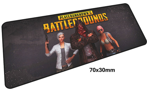 PUBG Three Characters Large Mouse Pad 700x300mm Best PC Gaming Pad HD Print