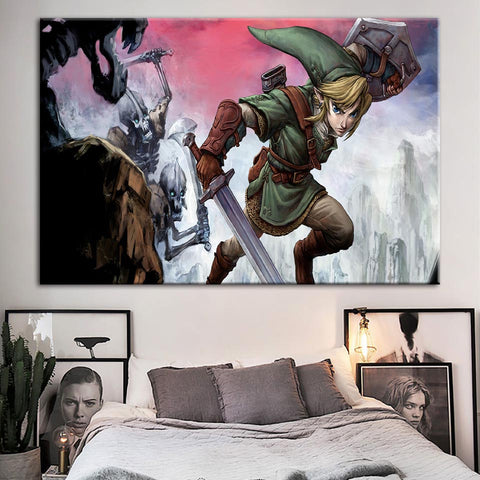 Legend Of Zelda Game Modern Décor Canvas Wall Art HD Print