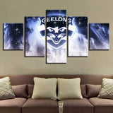 5 Panel Framed AFL Geelong Cats Modern Décor Canvas Wall Art HD Print