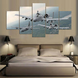 5 Panel 2 Warthogs & C-130 Transport Plane Modern Décor Wall Art Canvas HD Print