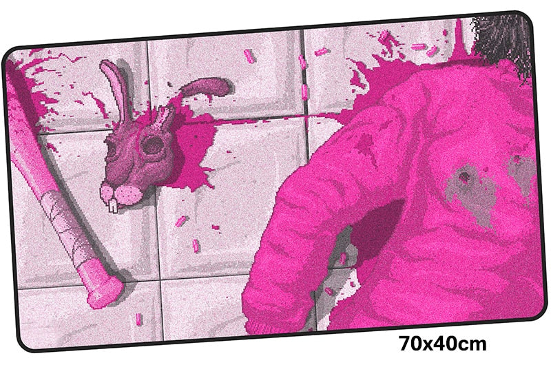 Hotline Miami Pink Bat Large Mouse Pad 700x400mm Best PC Gaming Pad HD Print