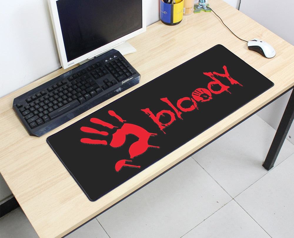 Bloody Hand Large Mouse Pad 800x300X3MM Best PC Gaming Mouse Pad HD Print