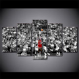 5 Panel Framed NBA Sport Modern Decor Canvas Wall Art HD Print