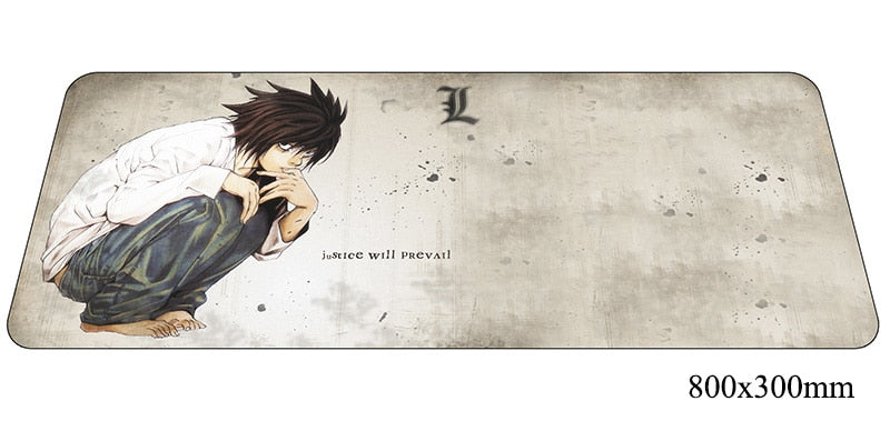 Death Note Justice Large Mouse Pad 800x300X2mm Best PC Gaming Pad HD Print