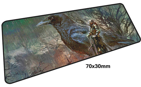 Dark Souls Knight & Crow Large Mouse Pad 700x300mm Best PC Gaming Pad HD Print