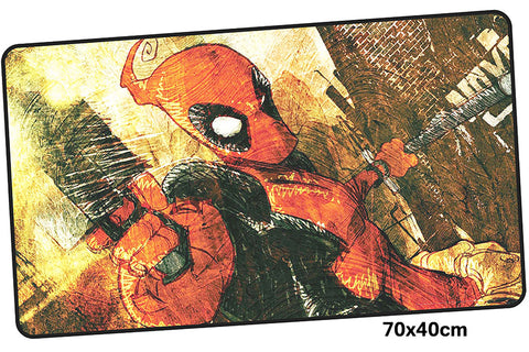 Deadpool Cartoon Bad Ass Large Mouse Pad 700x400X3mm Best PC Gaming Pad HD Print
