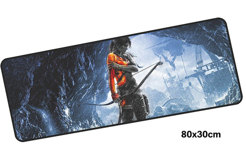 Tomb Raider Wounded Lara Large Mouse Pad 800x300mm Best PC Gaming Pad HD Print